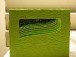 Tunnel accordion book in green